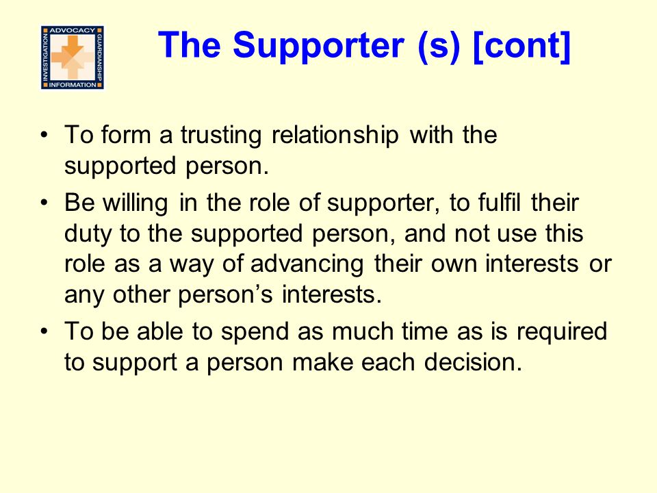 The Supporter (s) [cont]